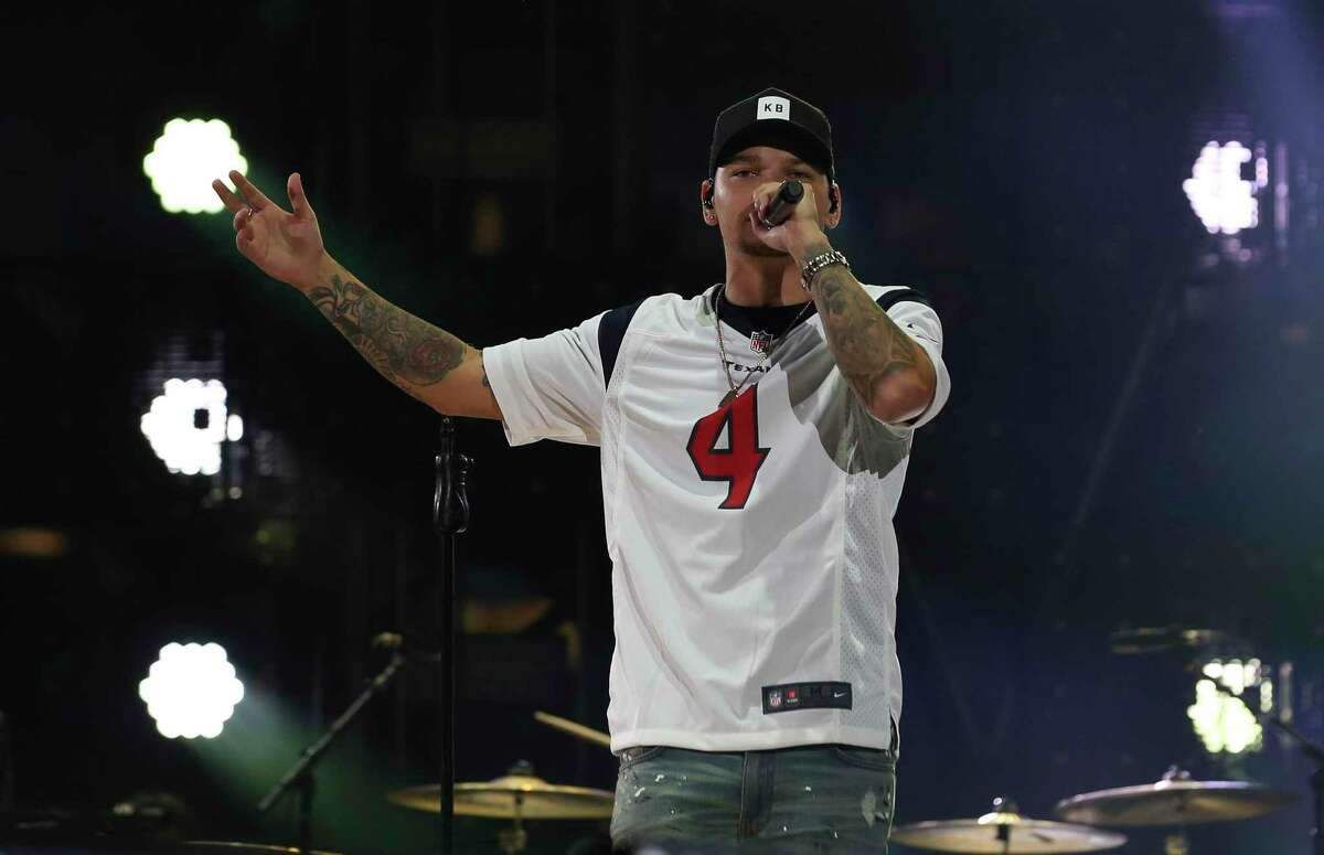 Kane Brown performs at the Houston Livestock Show and Rodeo at NRG Stadium on Saturday, March 9, 2019, in Houston.
