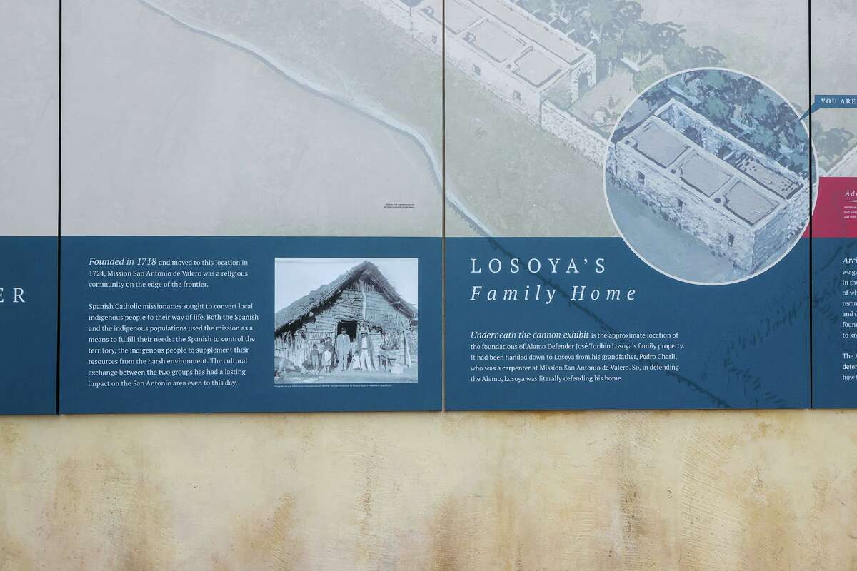 The image on the unveiled mural that descendants of the Losoya family objected to as state and local officials gathered for the unveiling of a new outdoor
