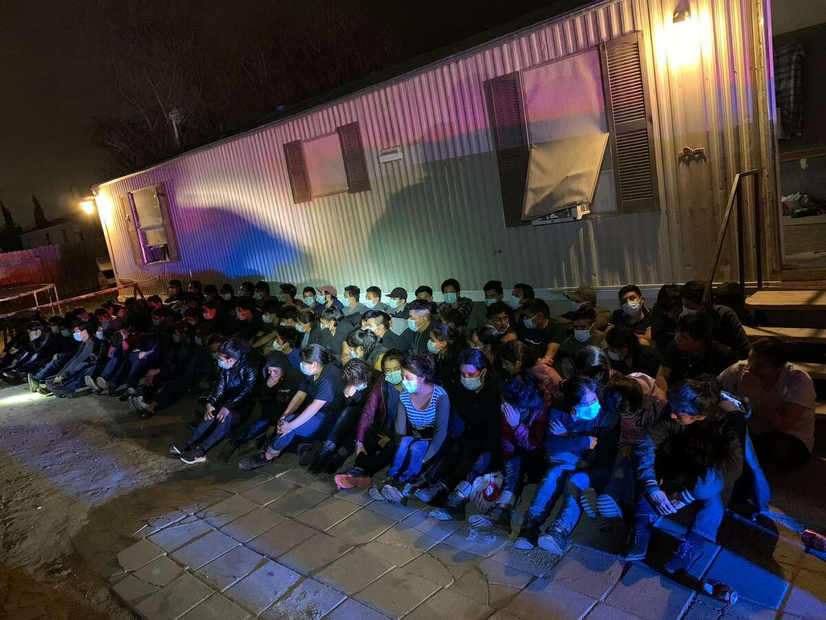 Local, county and federal authorities busted this stash house in the 4900 block of San Felipe Lane, where law enforcement officials encountered more than 80 immigrants illegally present in the country.