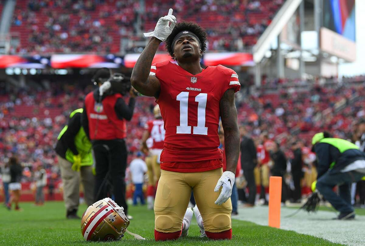 Marquise Goodwin, who had a career-best 962 yards in 2017 with the 49ers, signed with the Chicago Bears for the 2021 season.