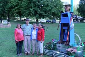 In 2016, The Manistee Arts and Culture Alliance commissioned the talents of sculptor Dewey Blocksma to honor and recognize migrant agricultural workers, who have had an impactful presence in Manistee County, alone, for 80 years. Now the group plans to commission the creation of another sculpture, honoring James Earl Jones and Donald Emerson Crouch. (File Photo)