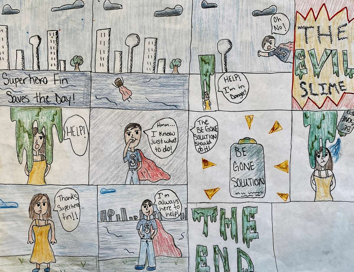 Olton High School and Junior High art students have been studying the art of comic strips.Christi McCasland, art teacher at Olton ISD, said students have been working on story lines and designs.The following are a selection of comics from those students.