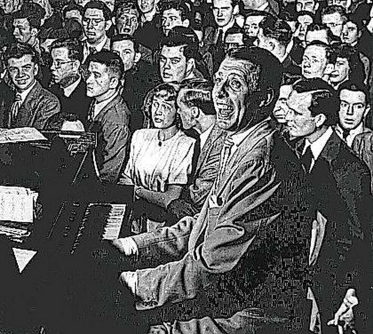 Big Band leader Stand Kenton performs in the mid 1940s.