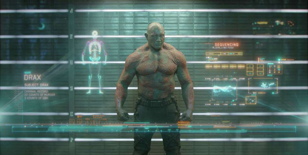 """Drax the Destroyer (Dave Bautista) in """"Guardians of the Galaxy."""""""