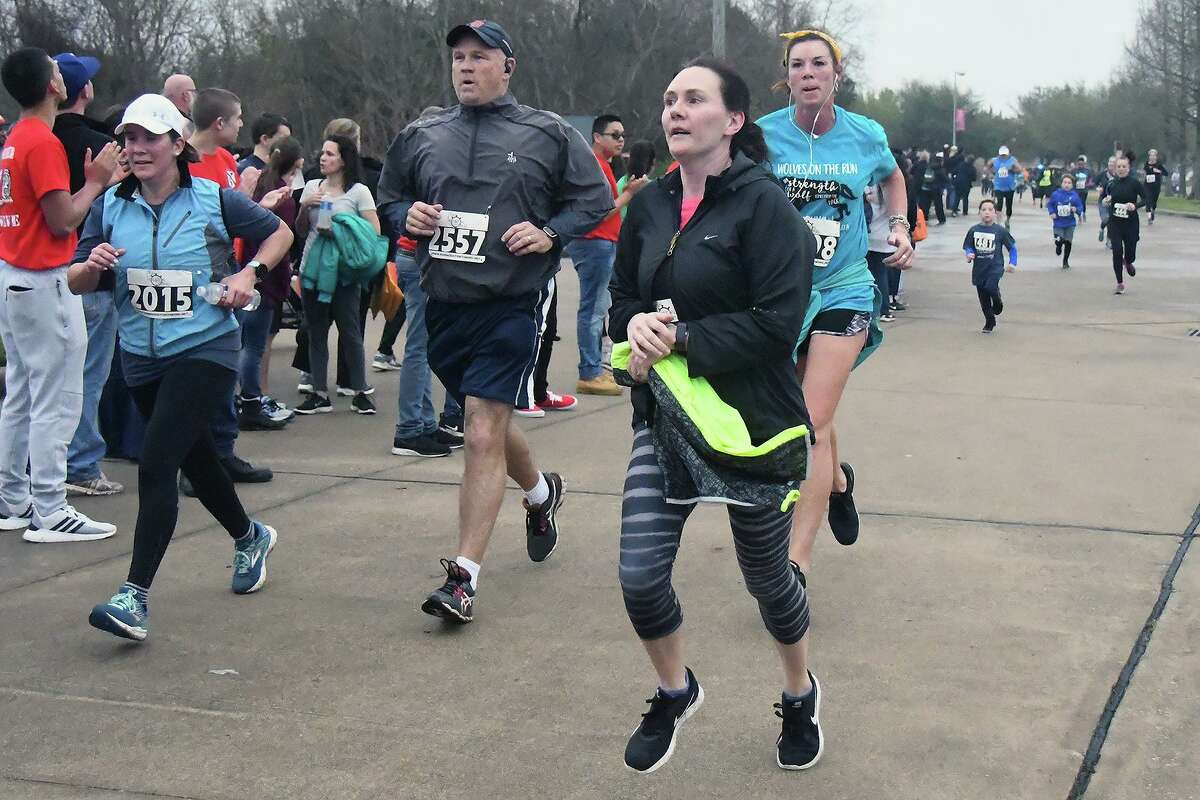 """In this photo from before the pandemic, runners participate in a previous year's Cy-Fair ISD Superintendent's Fun Run. This year, the Cy-Fair ISD Superintendent's Fun Run will be virtual, encouraging participants to """"run together from wherever."""""""