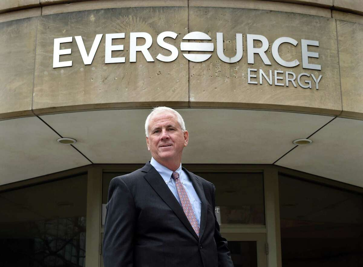 New Eversource Energy CEO Joseph Nolan at the company's corporate office in Hartford on April 12, 2021.