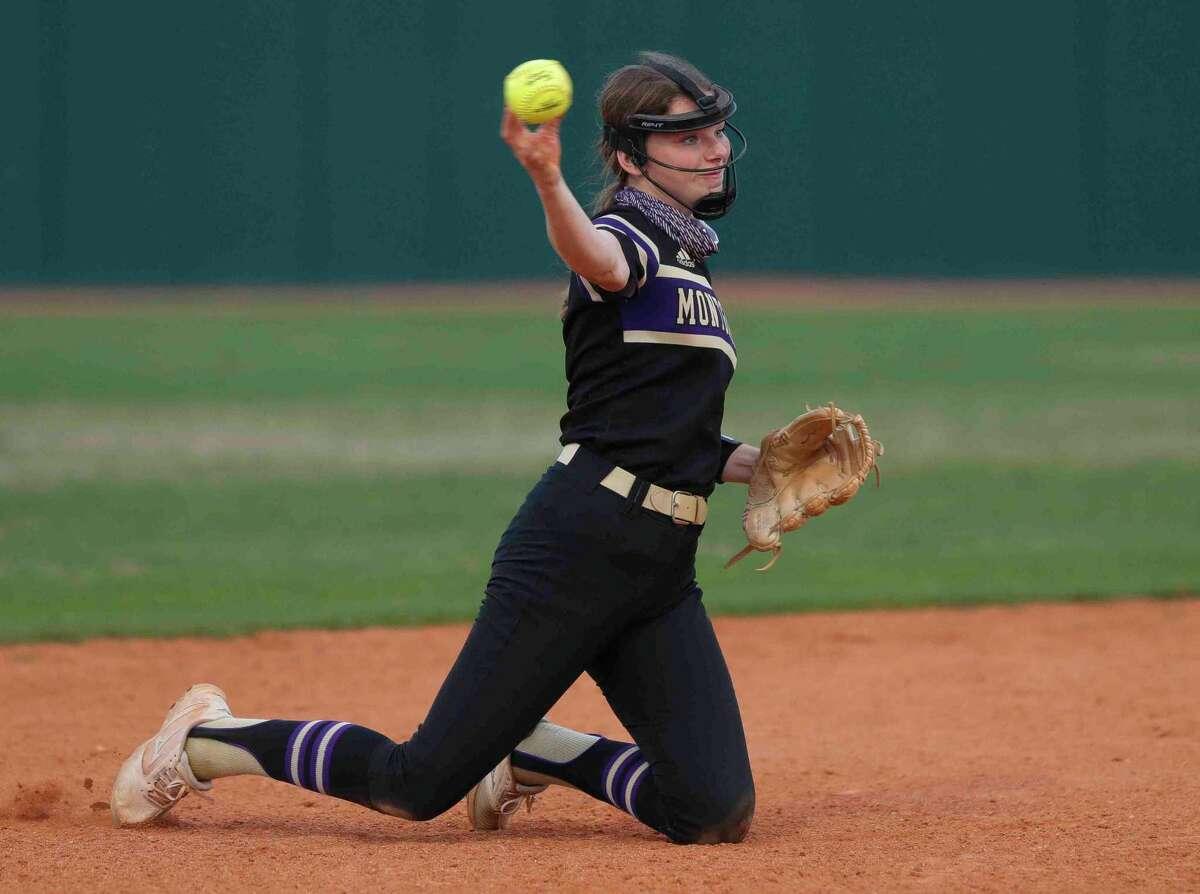 Montgomery shortstop Erin Ducharme (6), shown here earlier this season, homered against Kingwood Park.