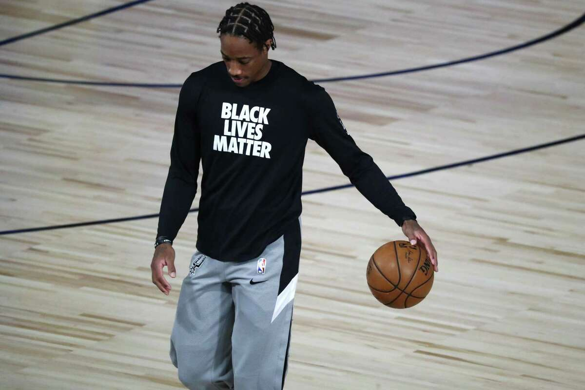 """Reacting to the death of 20-year-old Black man Daunte Wright at the hands of a white police officer, DeMar DeRozan said, """"It's something that definitely has to give. It's got to give, man. It's beyond obvious at this point."""""""