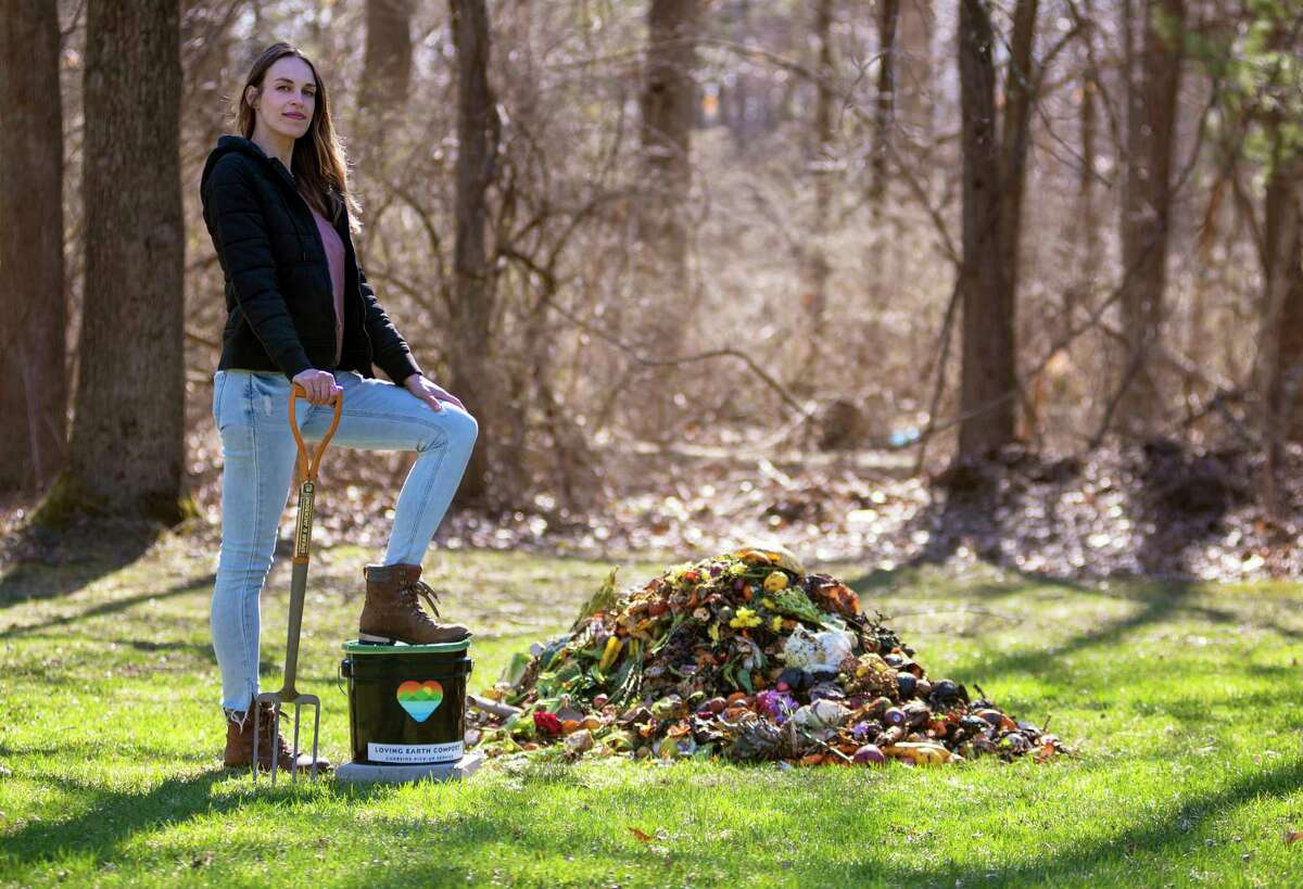 Whitney Davis, founder of Loving Earth Compost in Saratoga Springs.