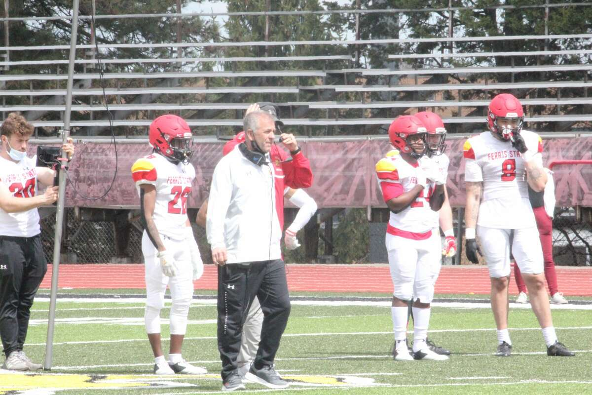 Ferris football draws large crowd to spring game at Top Taggart Field
