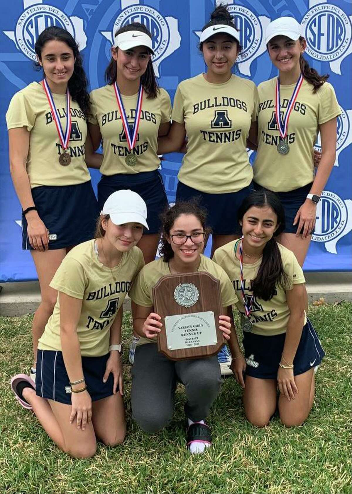 The Alexander girls' tennis team finished tied for second at the District 30-6A meet.