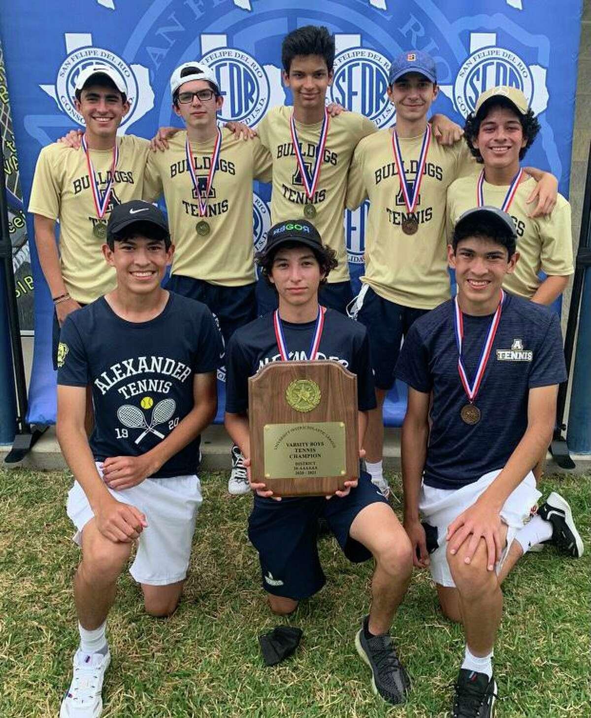 The Alexander boys' tennis team won the District 30-6A meet.