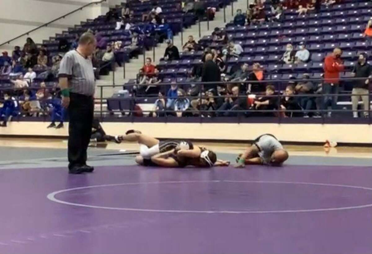 Foster freshman Madison Canales remained undefeated at the Region III-5A wrestling tournament, winning three matches for the 119-pound championship.