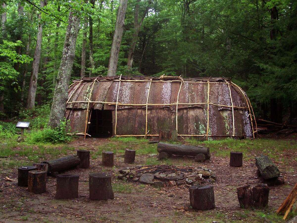 Native American replicated village.