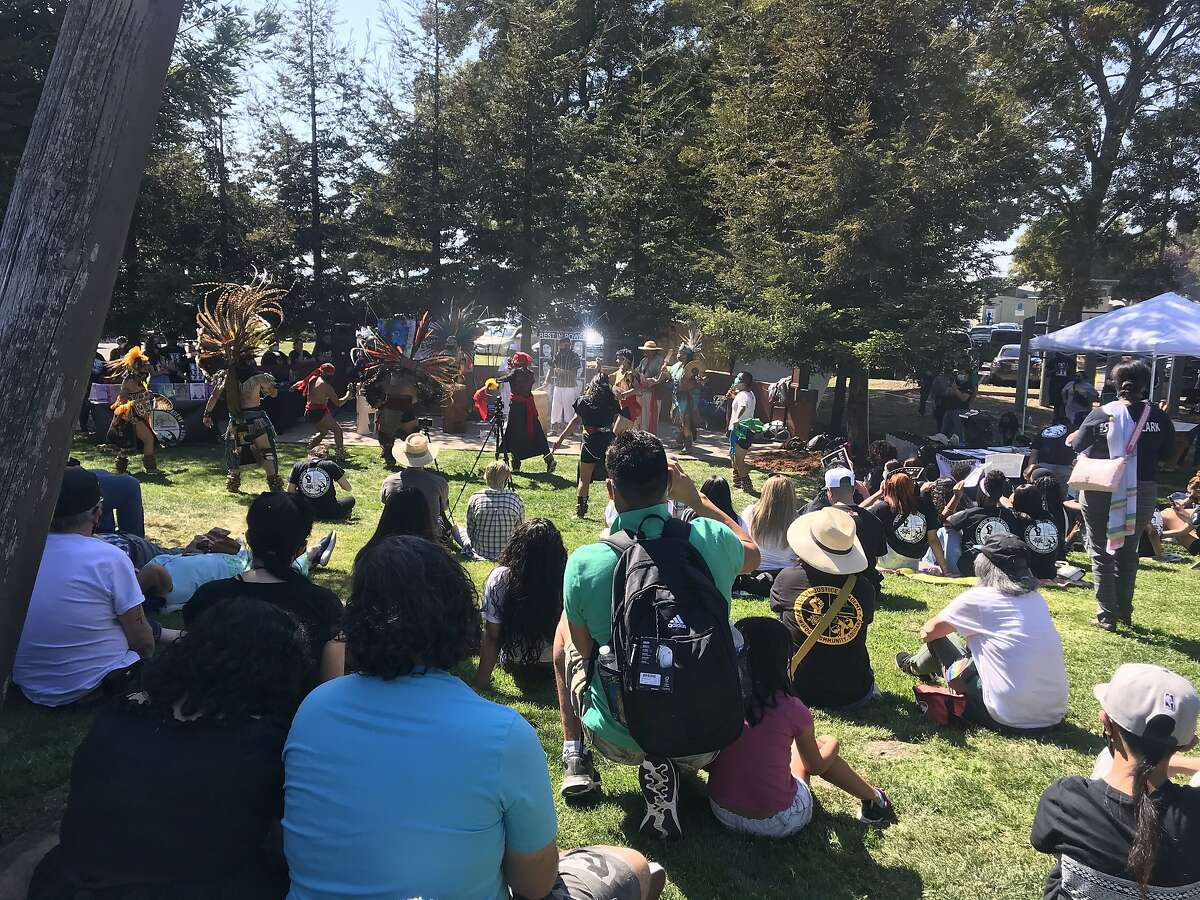 Nearly 100 people gathered Sunday at the San Leandro Marina Park to honor Steven Taylor, a Black man shot and killed by police at a Walmart a year ago.