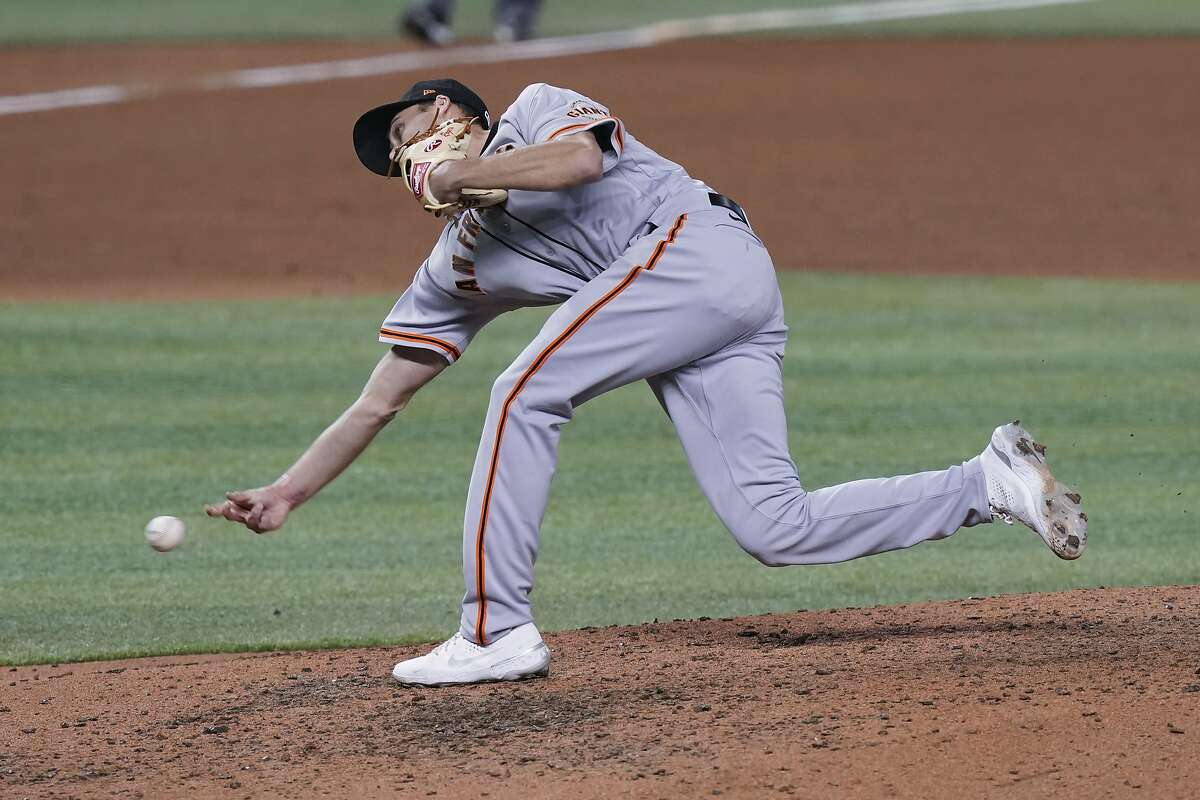 """Giants reliever Tyler Rogers picked up the save, his first of the season, in the 1-0 victory against the Marlins in Miami. He's allowed one earned run over 10 ?..."""" innings on the season"""