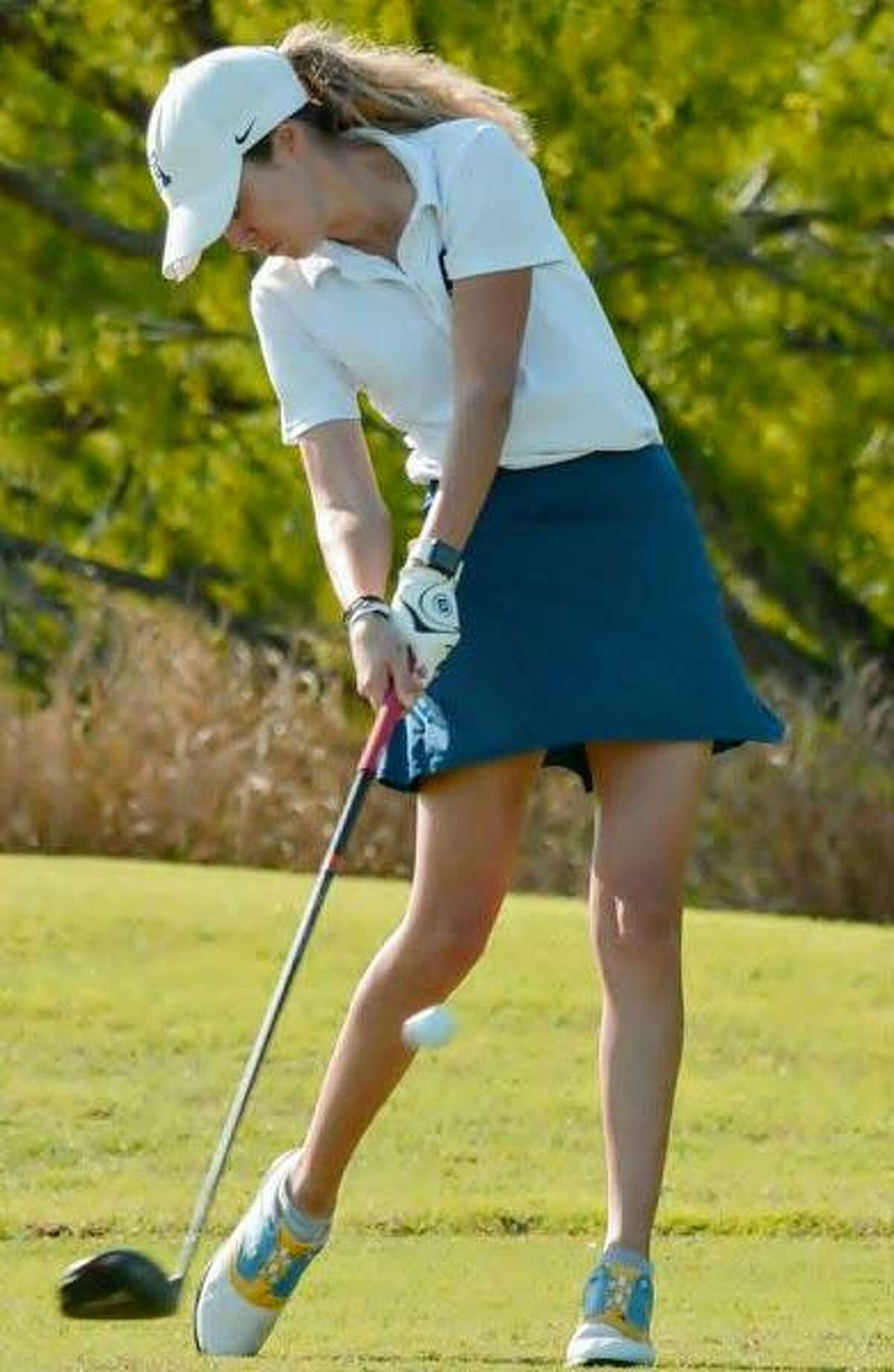 Catherine Flores is tied for 28th place and is nine strokes off the lead after opening the regional tournament with a round of 79 Monday in McAllen.