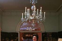 Lady Bird Johnson at the White House in Washington, D.C., on May 8, 1968.