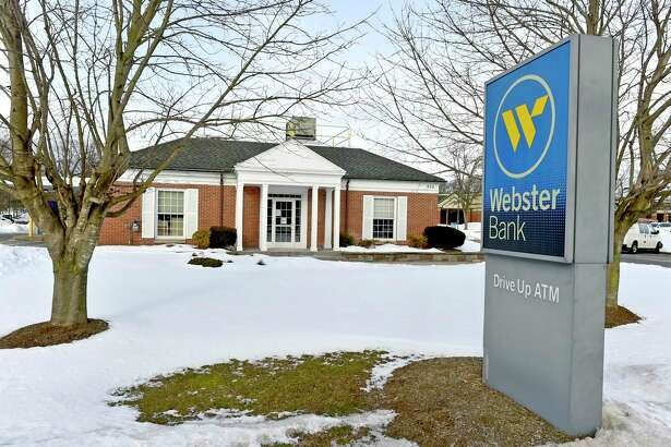 A Webster Bank branch at 975 South Main Street in Cheshire, Conn. Webster Bank's parent company has announced that it will merge with Sterling Bancorp in all-stock deal worth about $10 billion.