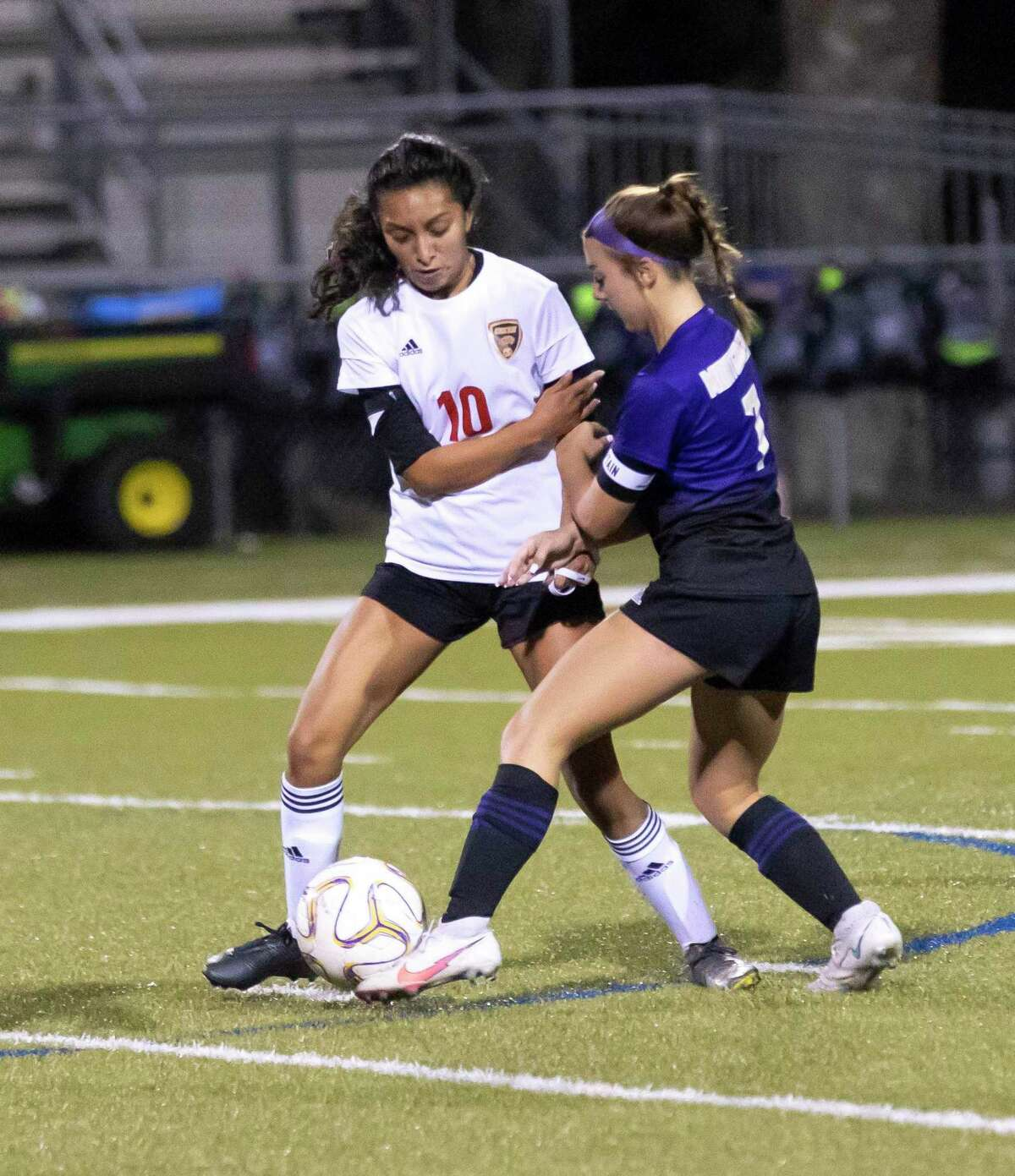 Caney Creek senior Julie Mendoza (10) Montgomery junior Makenzie Griffith (7) both earned District 20-5A superlatives following the 2021 season. Mendoza was the Midfielder MVP and Griffith was the Offensive MVP.