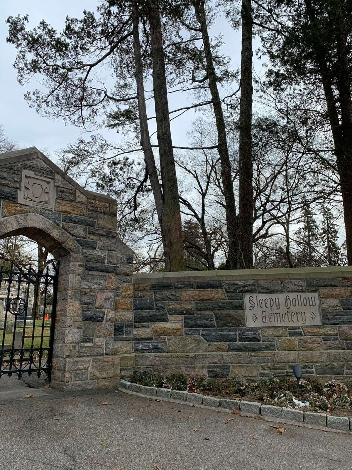 """The Sleepy Hollow Cemetery, with plots for Andrew Carnegie to Washington Irving, author of """"The Legend of Sleepy Hollow."""""""