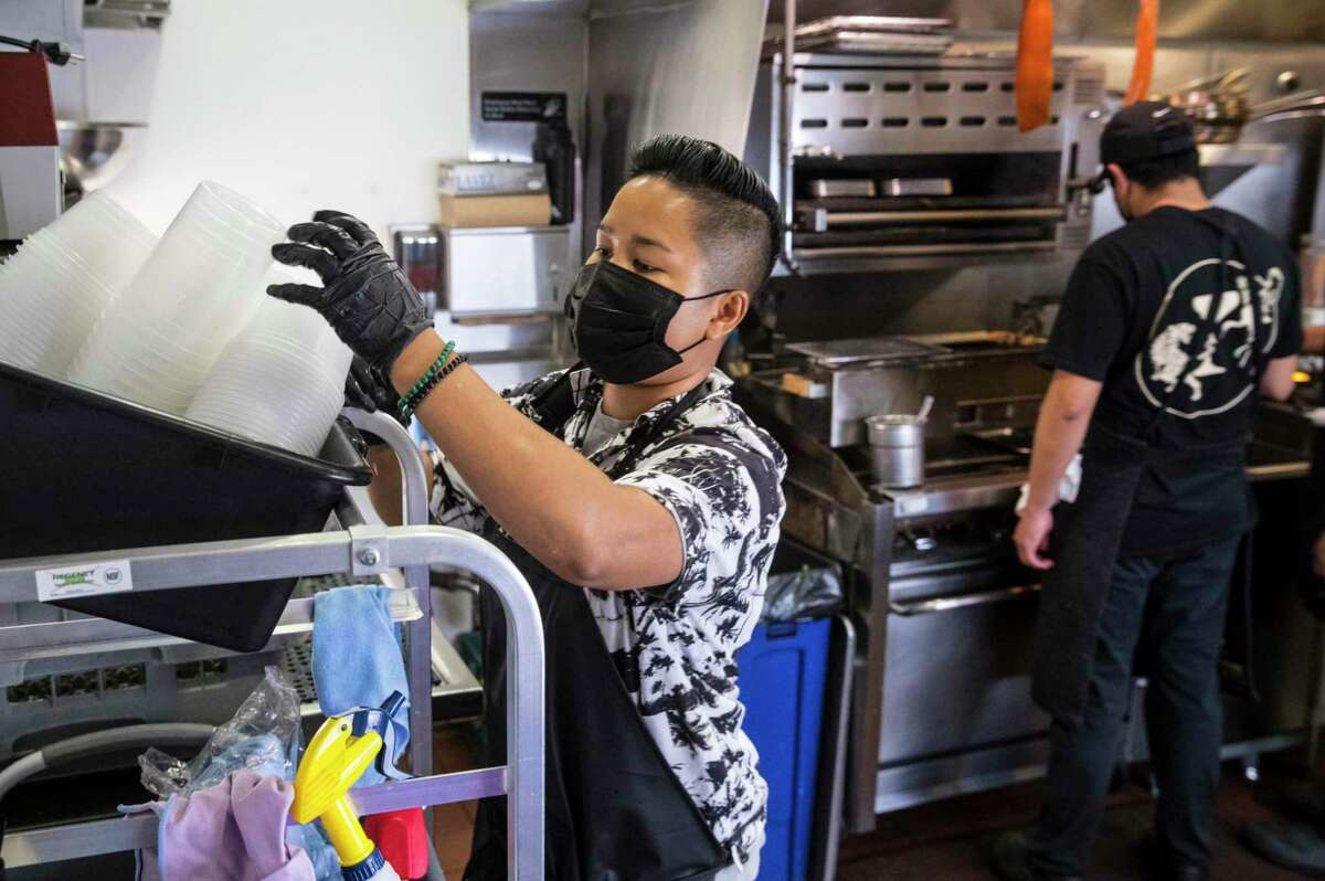 Maly Sat began her first shift at Viridian on April 18. Bay Area restaurants are struggling to find new employees amid a nationwide staffing shortage.