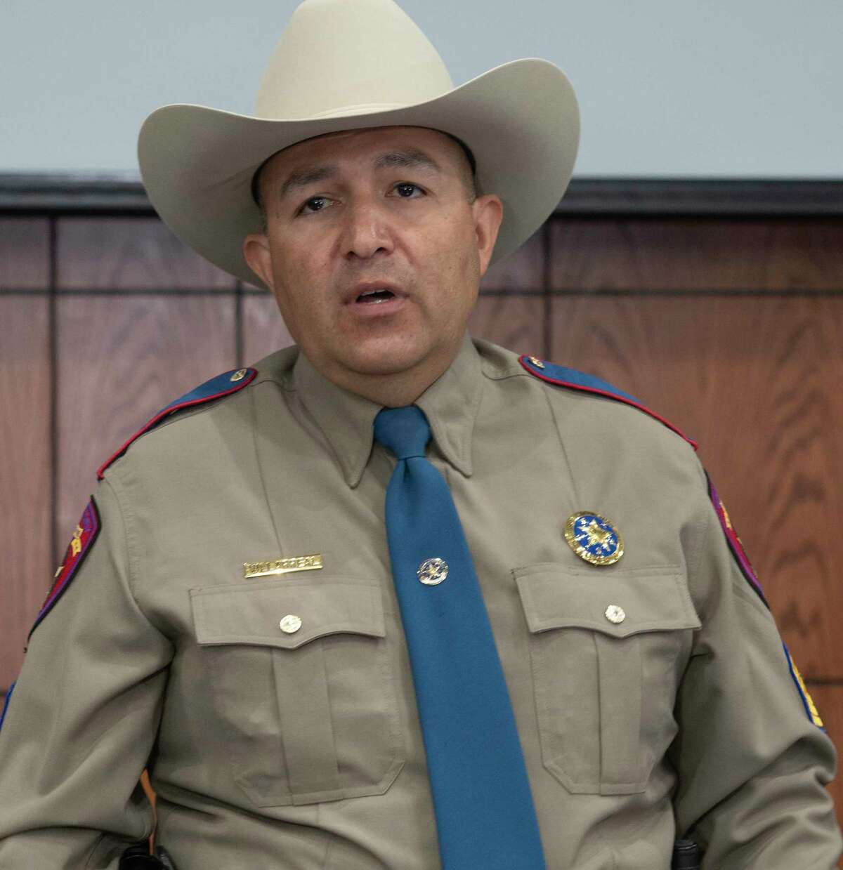 DPS Sergeant Oscar Villarreal talks about the new partnership with DRB Media 04/19/2021 that will be producing and airing 2-3 minute segments on West Texas cold cases in hopes of gaining new information. Tim Fischer/Reporter-Telegram