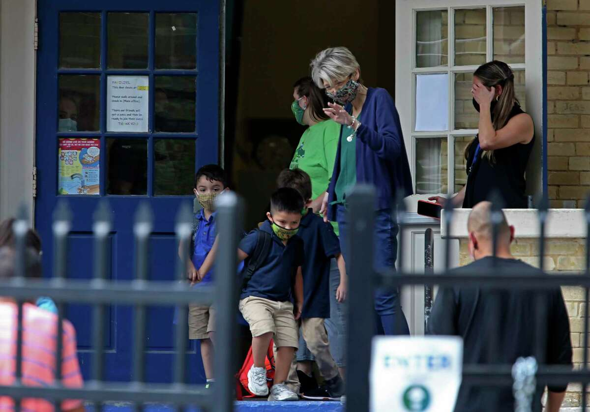 Students leave San Antonio ISD's Advanced Learning Academy in October. Why is the state holding back federal dollars for public schools? There is no good answer.