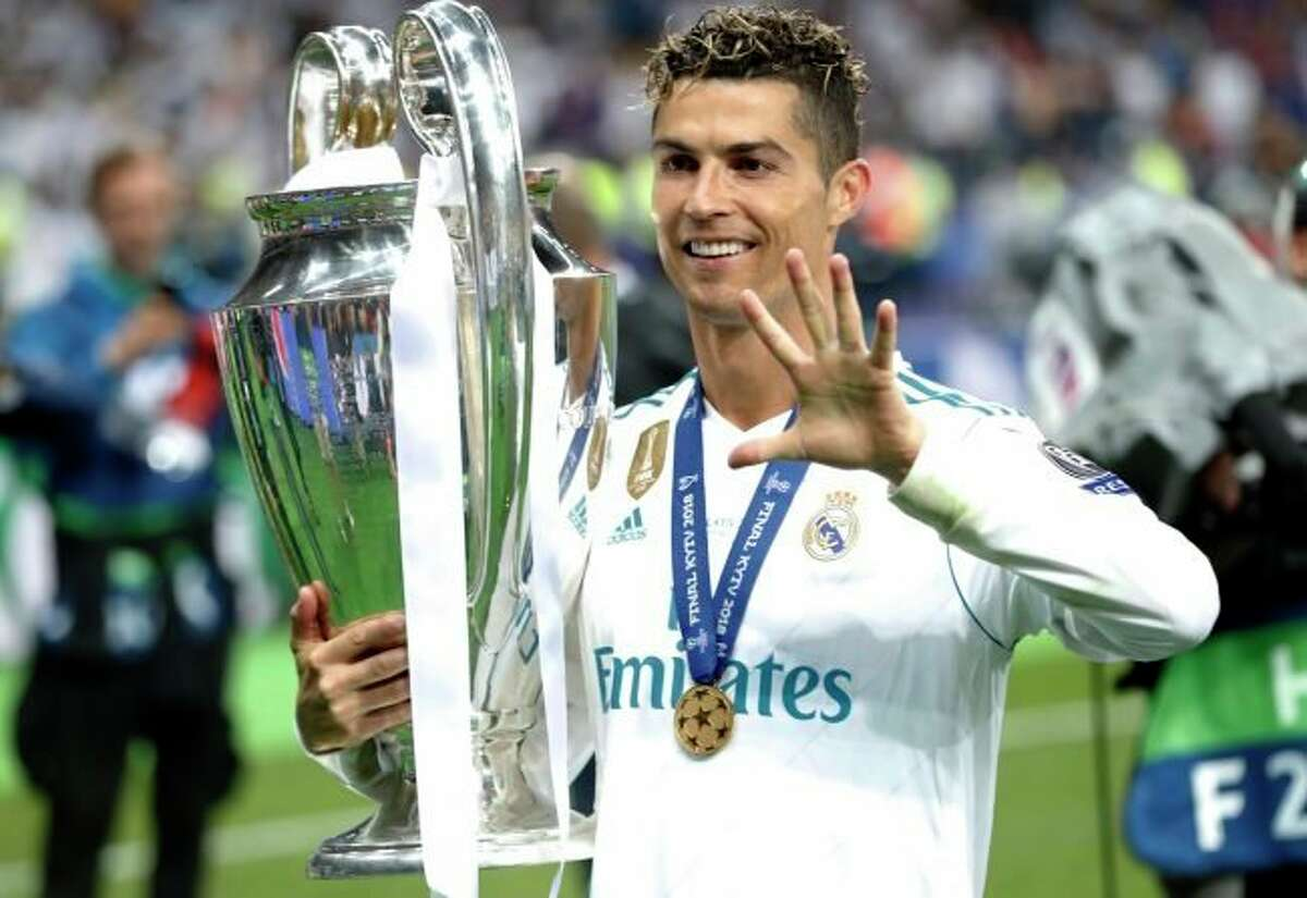 Cristiano Ronaldo, seen here with Real Madrid after winning the Champions League with Real Madrid in 2018, has since gone on to play at Italian giant, Juventus, both of these teams are slated to enter the new European Super League. (AP Photo/Pavel Golovkin)