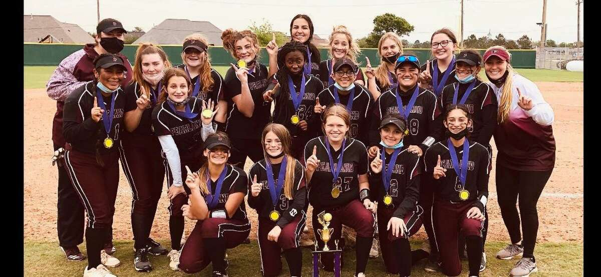 The Pearland No. 2 junior varsity softball team defeated Brazoswood, 4-0, and Deer Park, 8-5, to win its league tournament and improve to 12-6-2. Team members are Sydney Bodden, Kendall Gillespie, Carly Carpenter, Gabriella Cervantez, Desiree Gonzales, Jaiden Grace, Ashlyn Harrison, Paige Niemeyer, Jojo Pena, Aaliyah Ramirez, Giselle Ramirez, Alisia Rodarte, Avery Welch, Camryn Williams, Ashlyn Armstrong, Julissa Castro, Madison Martinez, Mayce Stuckman and head coach Haley Beam.