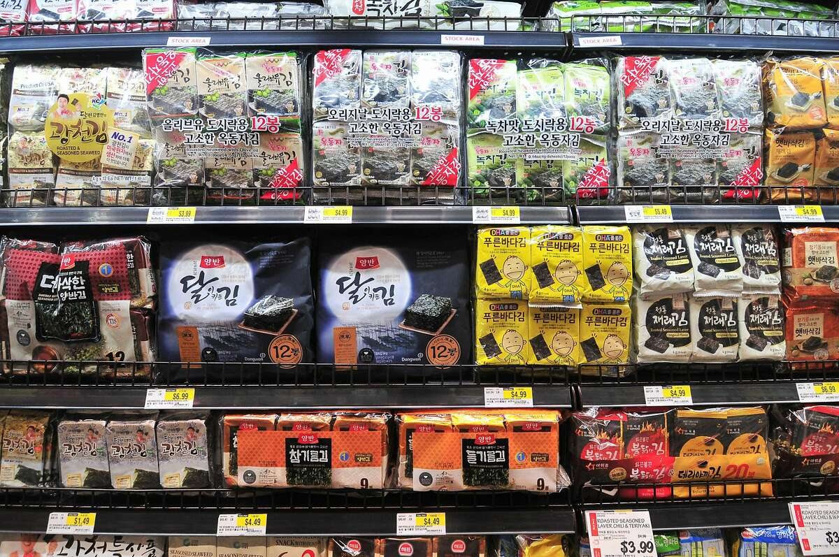 This Texas location of H Mart also has an array of snacks.
