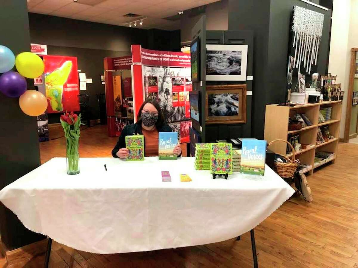 Tirzah Price showcased her new book at the Painted Turtle Author Book Signing on Saturday at Artworksin downtown Big Rapids. (Photo courtesy of Artworks)