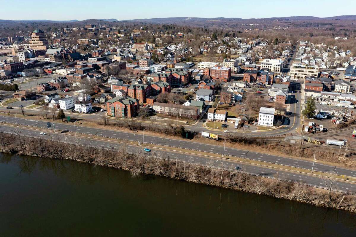 Middletown is seen in this March 21 drone shot.