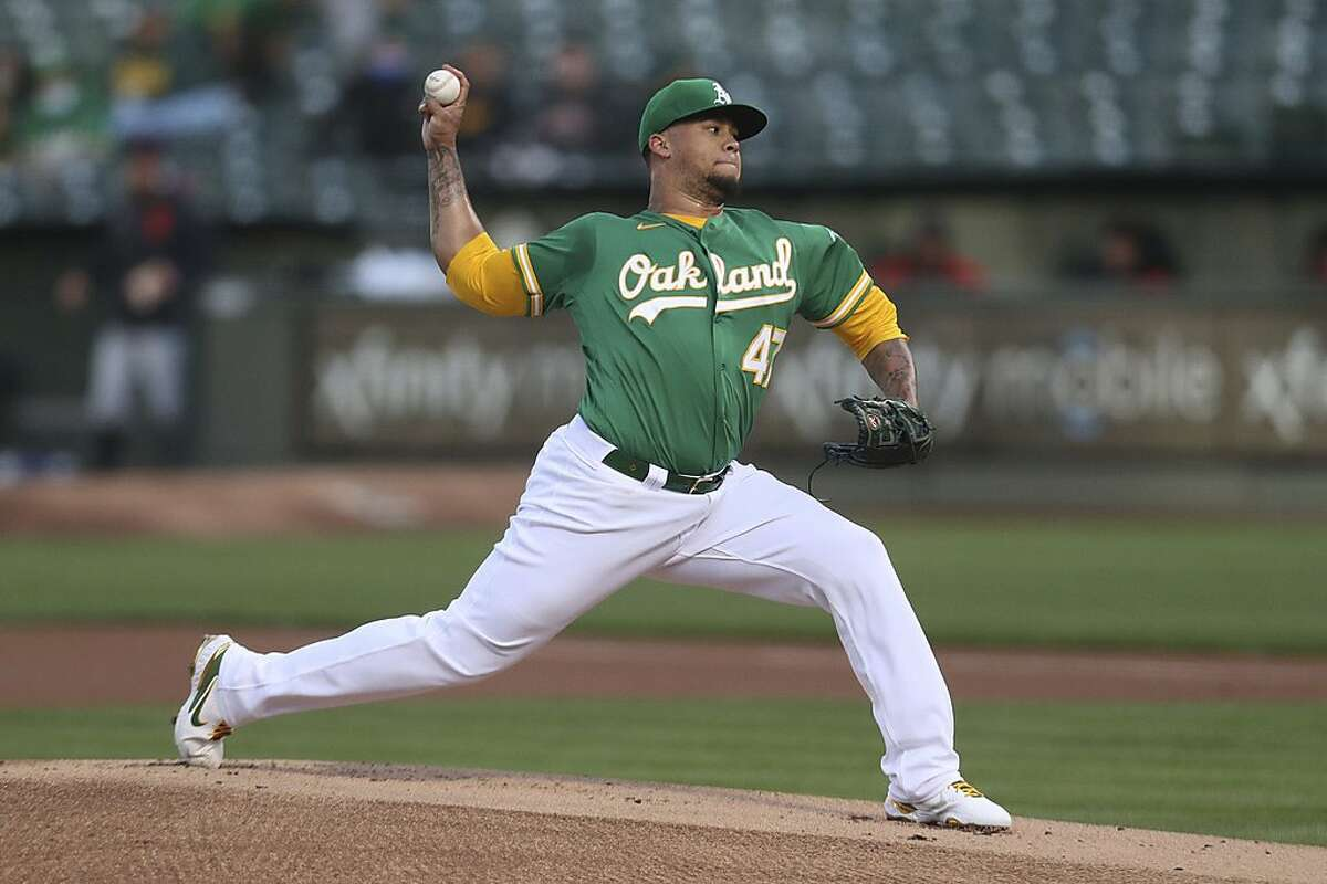 The A's Frankie Montas allowed seven runs in his first start, but just one in his past two combined.