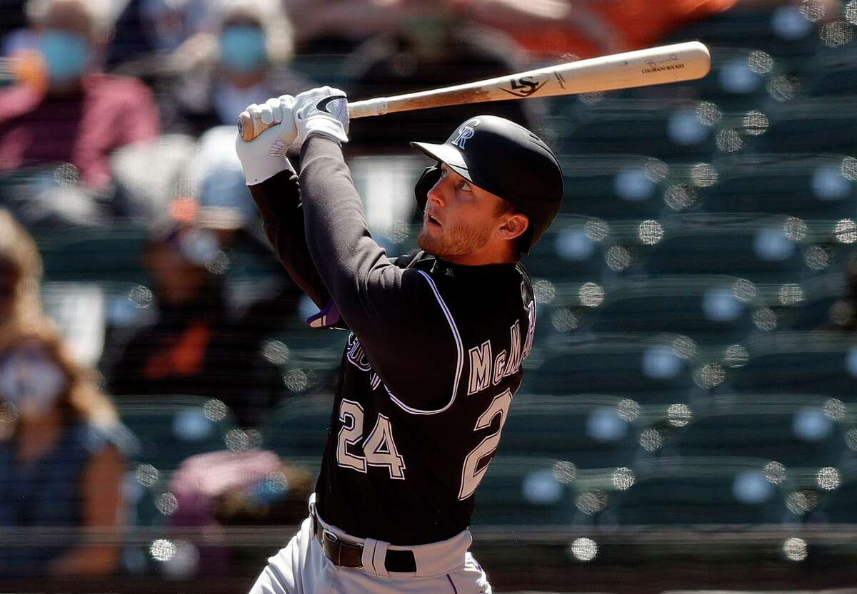 Rockies second baseman Ryan McMahon is tied for second in the majors with six home runs.