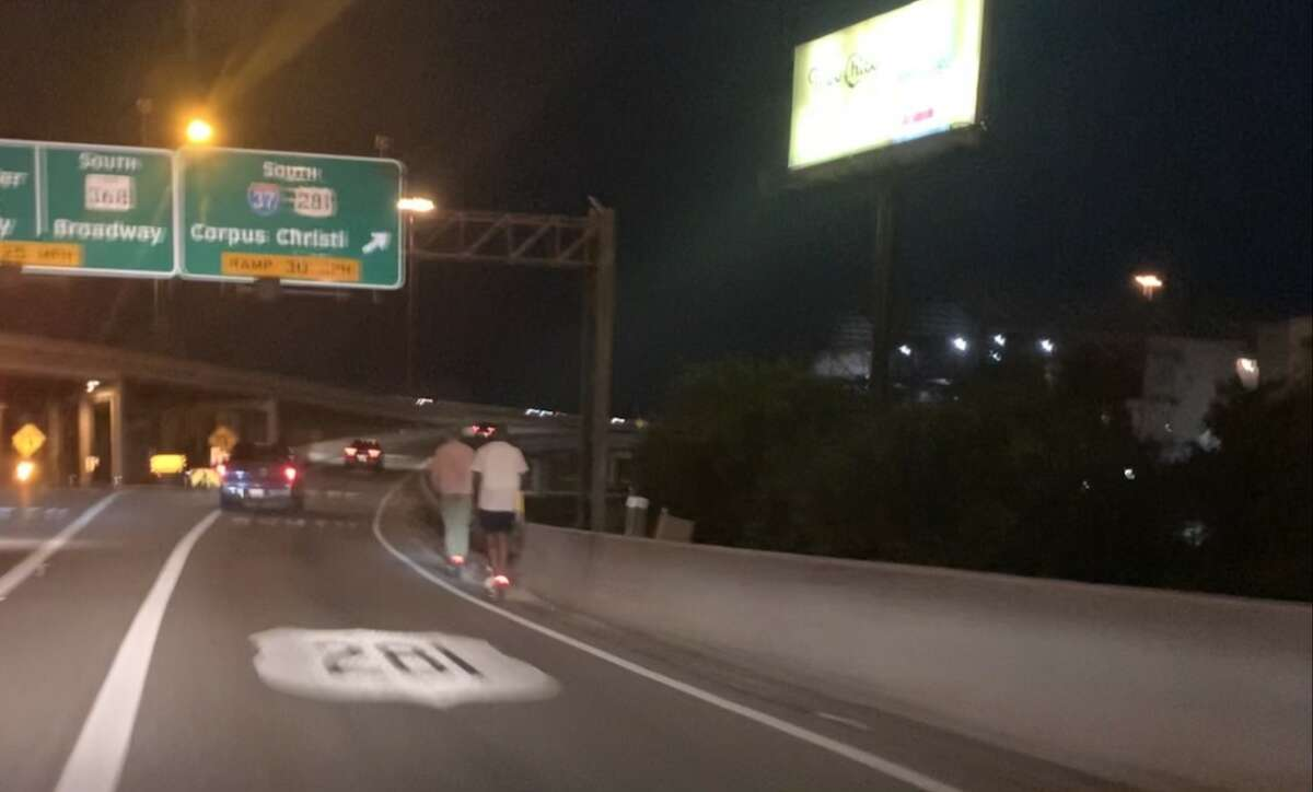 For two San Antonio men, Sunday night cruising meant scooting up the Interstate 35 North ramp to Highway 281 South as cars zipped past.