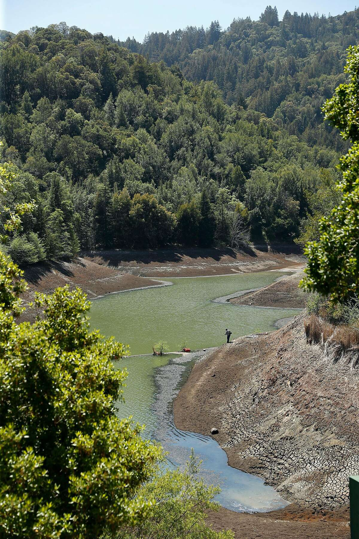 Phoenix Lake, west of Kentfield, is one of Marin Water's five reservoirs on Mount Tamalpais.
