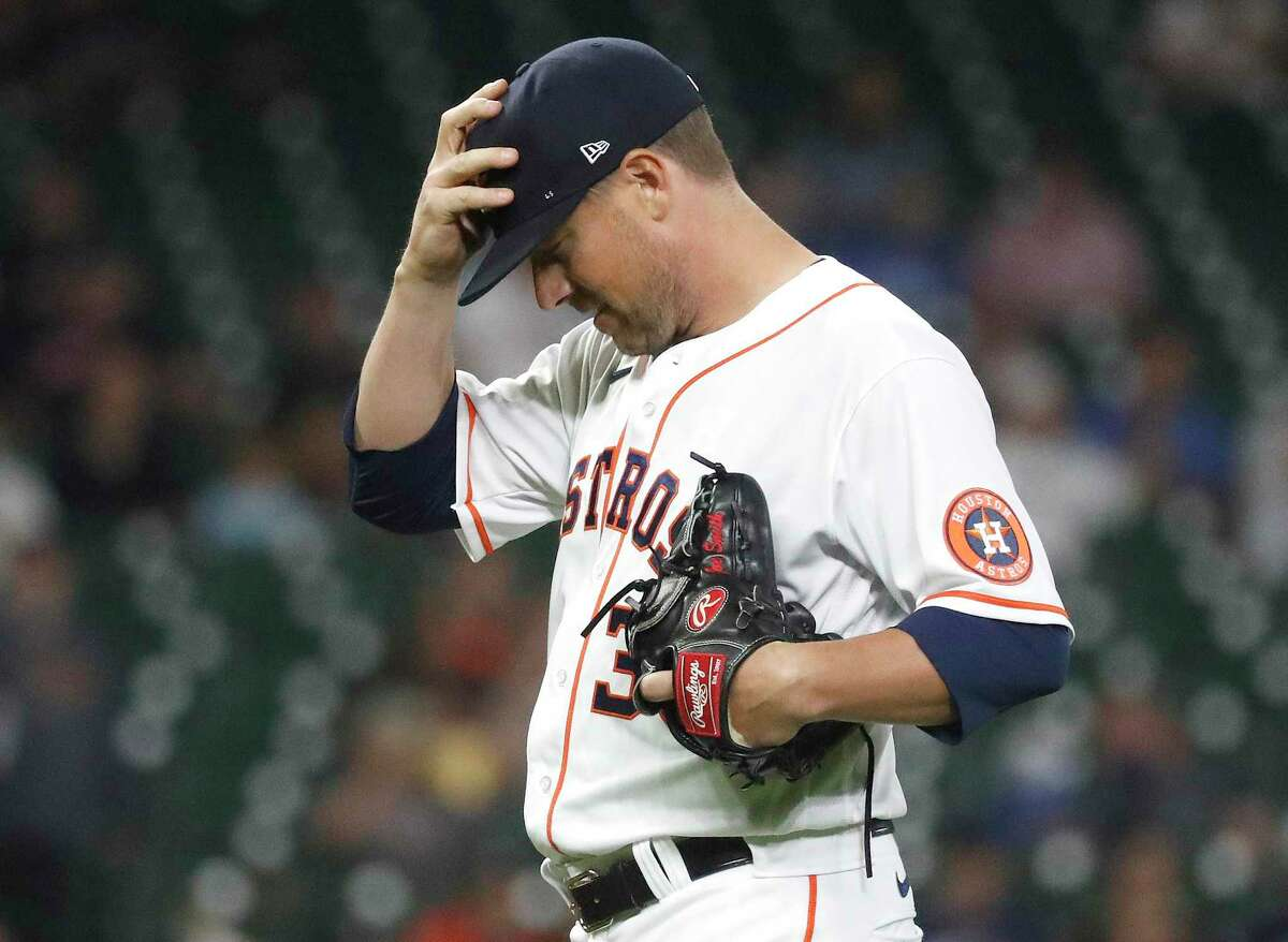 After opting out of the 2020 season, Astros reliever Joe Smith has pitched to a 14.54 ERA in 4 1/3 innings this year.