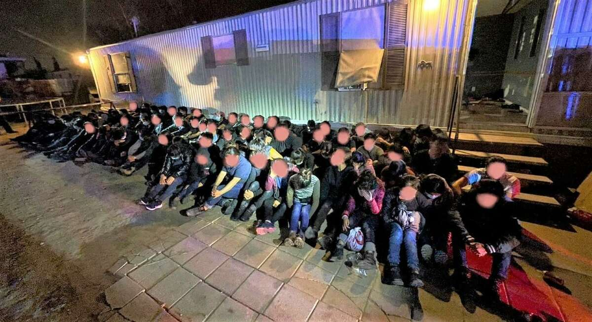 These 87 immigrants who had crossed the border illegally were found inside a stash house in the 4900 block of San Felipe Lane.