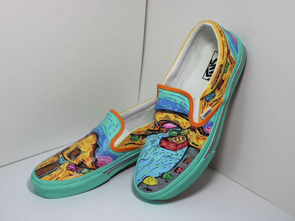 Edison High School art student Rogelio Zamarripa created a design that has put the school in the running in a national Vans shoe competition.
