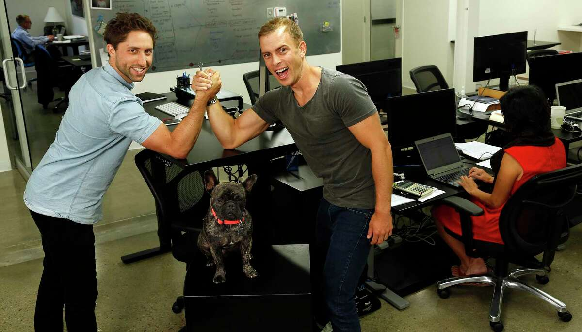 Jaspar Weir, 29, left, and Bryce Maddock, 29, co-founders of TaskUs.