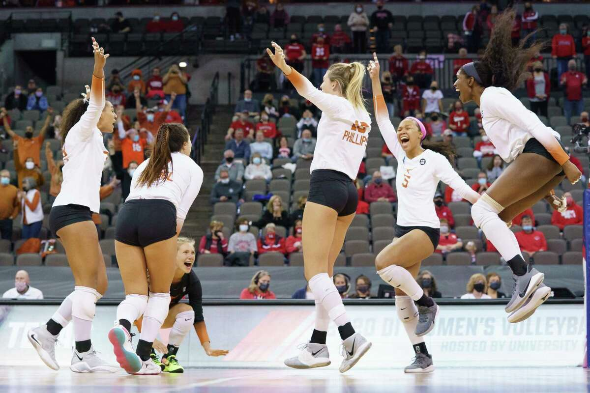 Despite playing in the Cornhuskers' backyard in Omaha, Neb., the Longhorns were able to celebrate after winning their regional final in four sets.