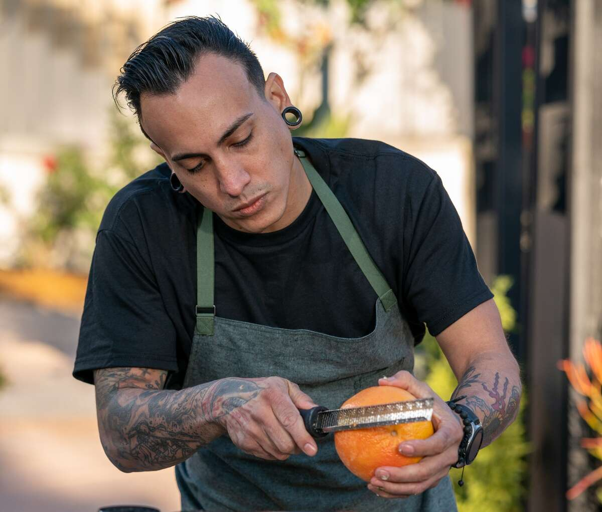 Chef Victor Aguilera of Arepas en Bici in San Francisco, is another Bay Area competitor on