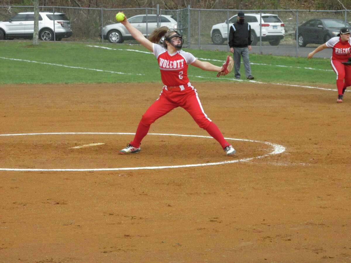 Wolcott sophomore pitcher Sofia Gugliotti held Torrington to four hits and struck out 13 in a big Eagles win at Torrington High School Monday afternoon.