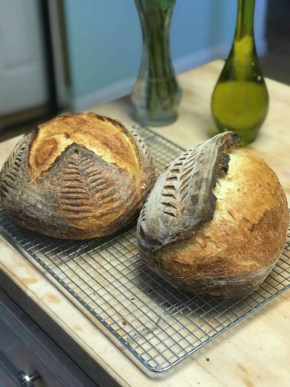 Samples of sourdough bread.