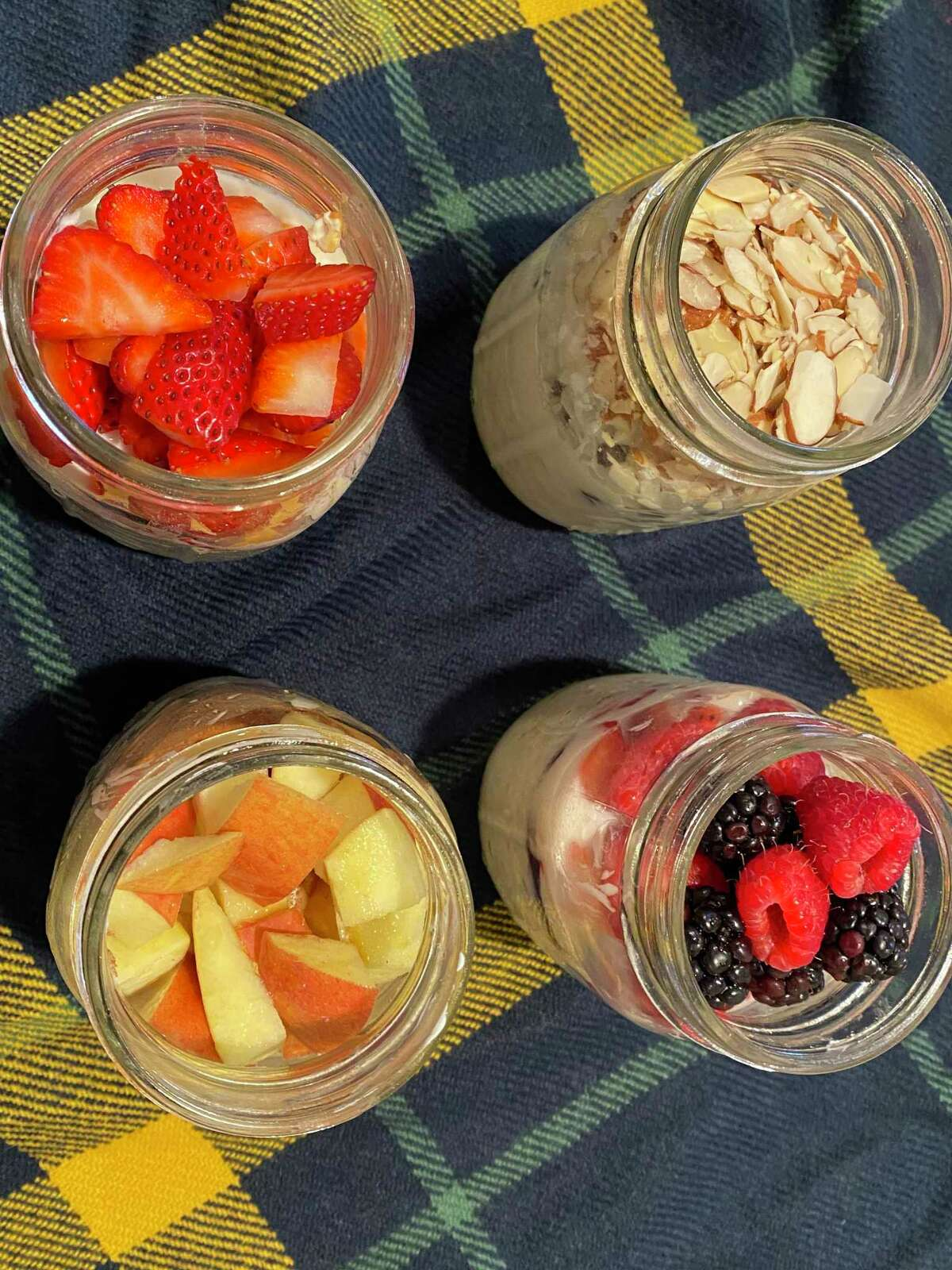 Overnight oats are a versatile and travel friendly breakfast.