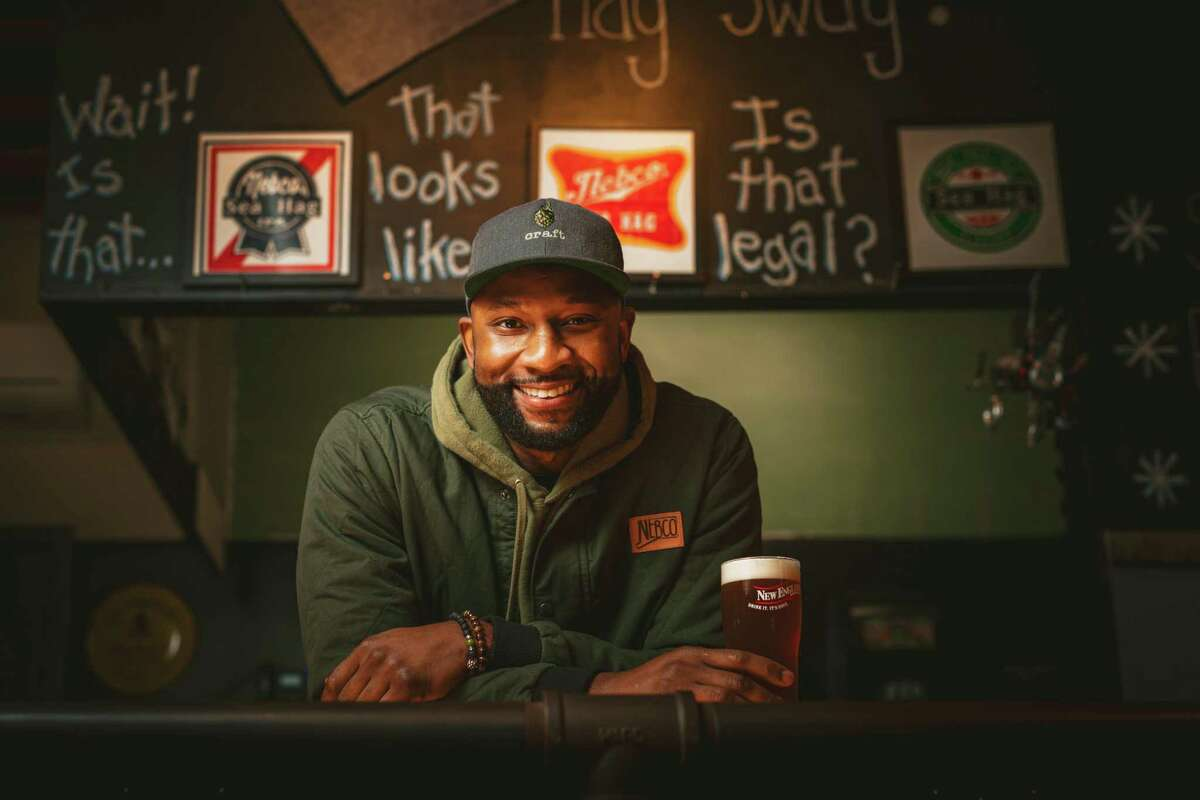 Jamal Robinson, director of sales at New England Brewing Co., wants more People of Color to join him in Connecticut's craft beer world.