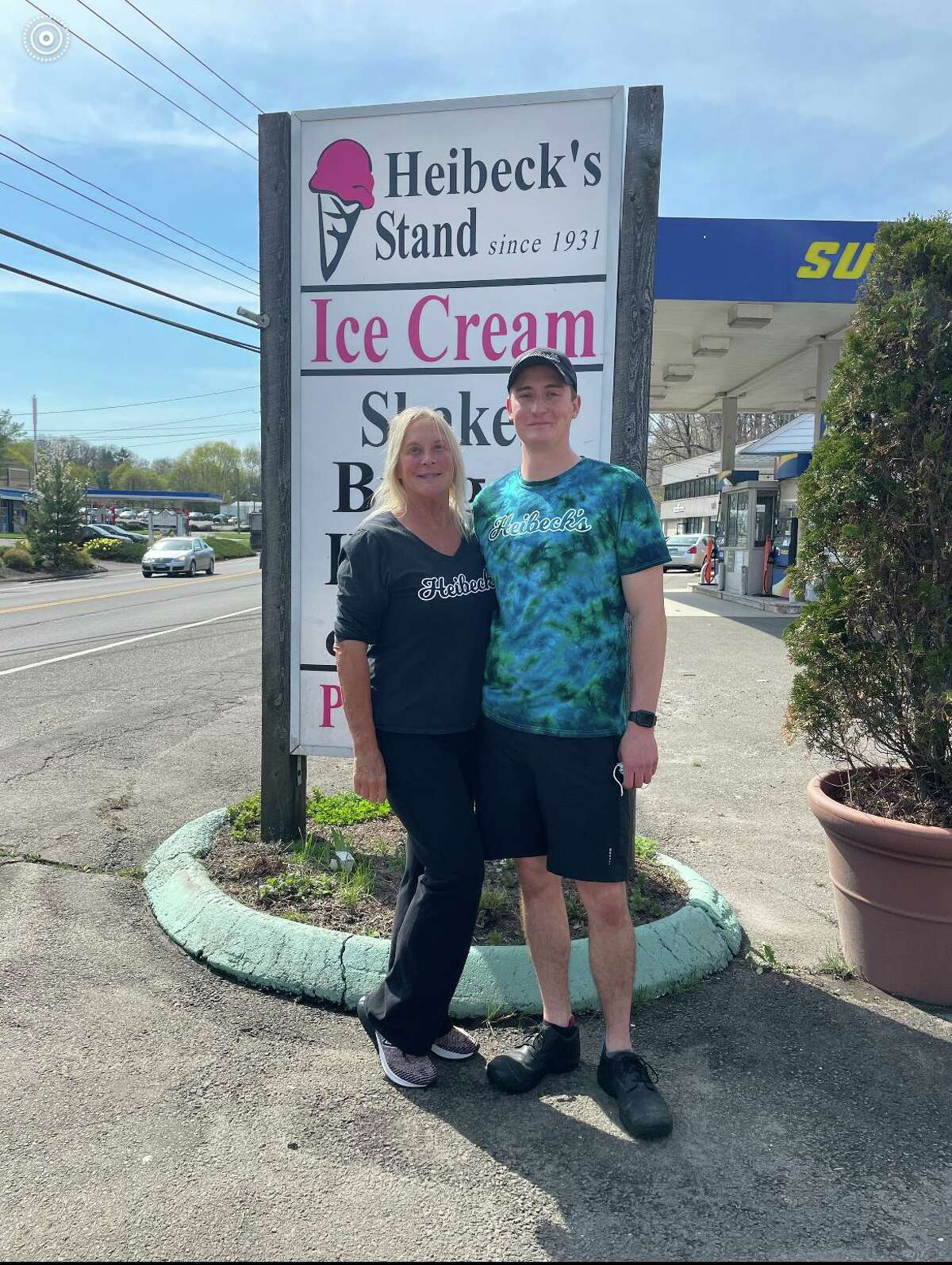 """Barbara """"Bobbie"""" Heibeck and son Skylar Smith are co-owners of Heibeck's on Danbury Road in Wilton, after purchasing the business back into the family just under a decade ago."""