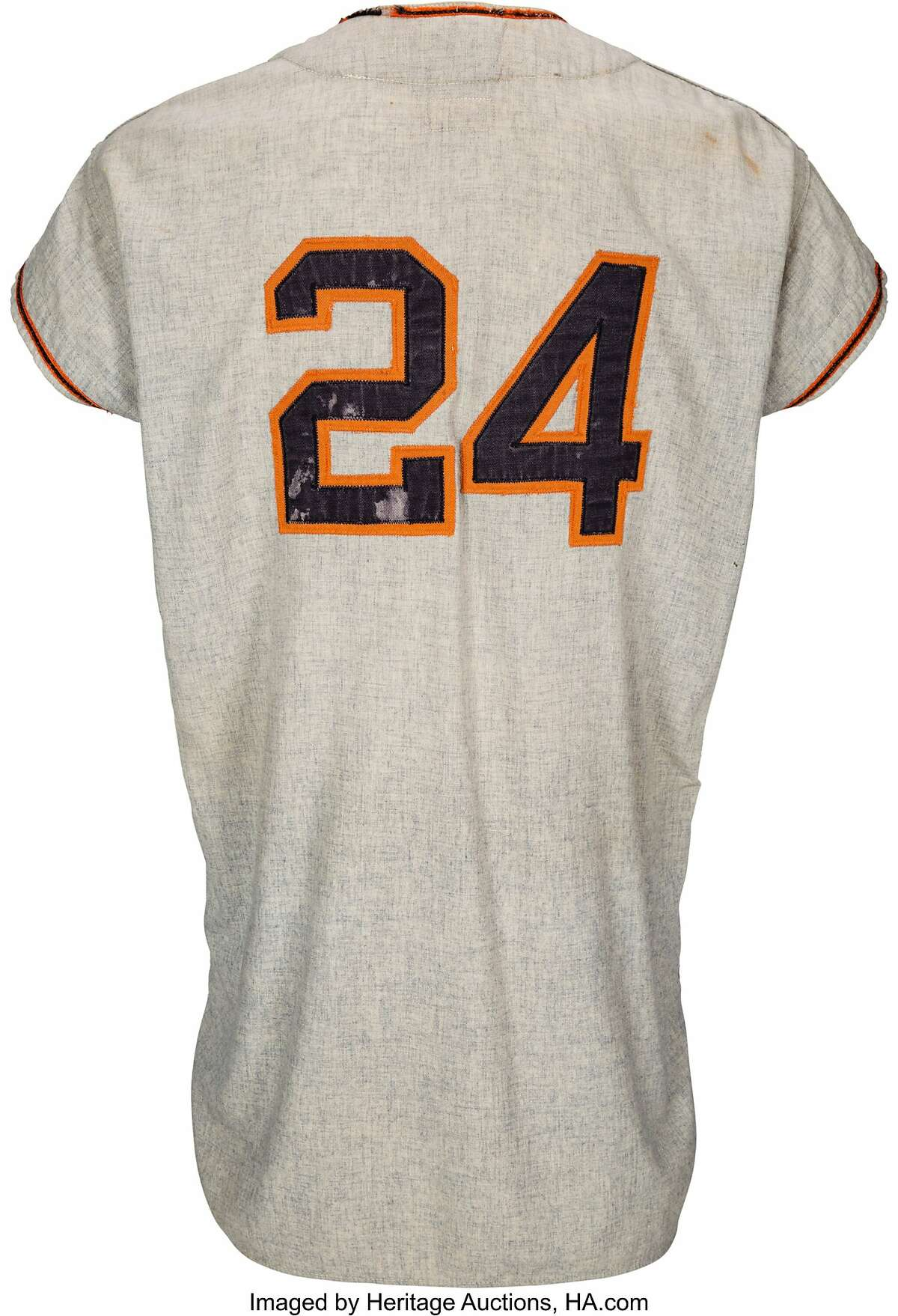 Heritage Auctions said the jersey dated to 1958, when the New York Giants and Brooklyn Dodgers agreed to take their rivalry to the West Coast.