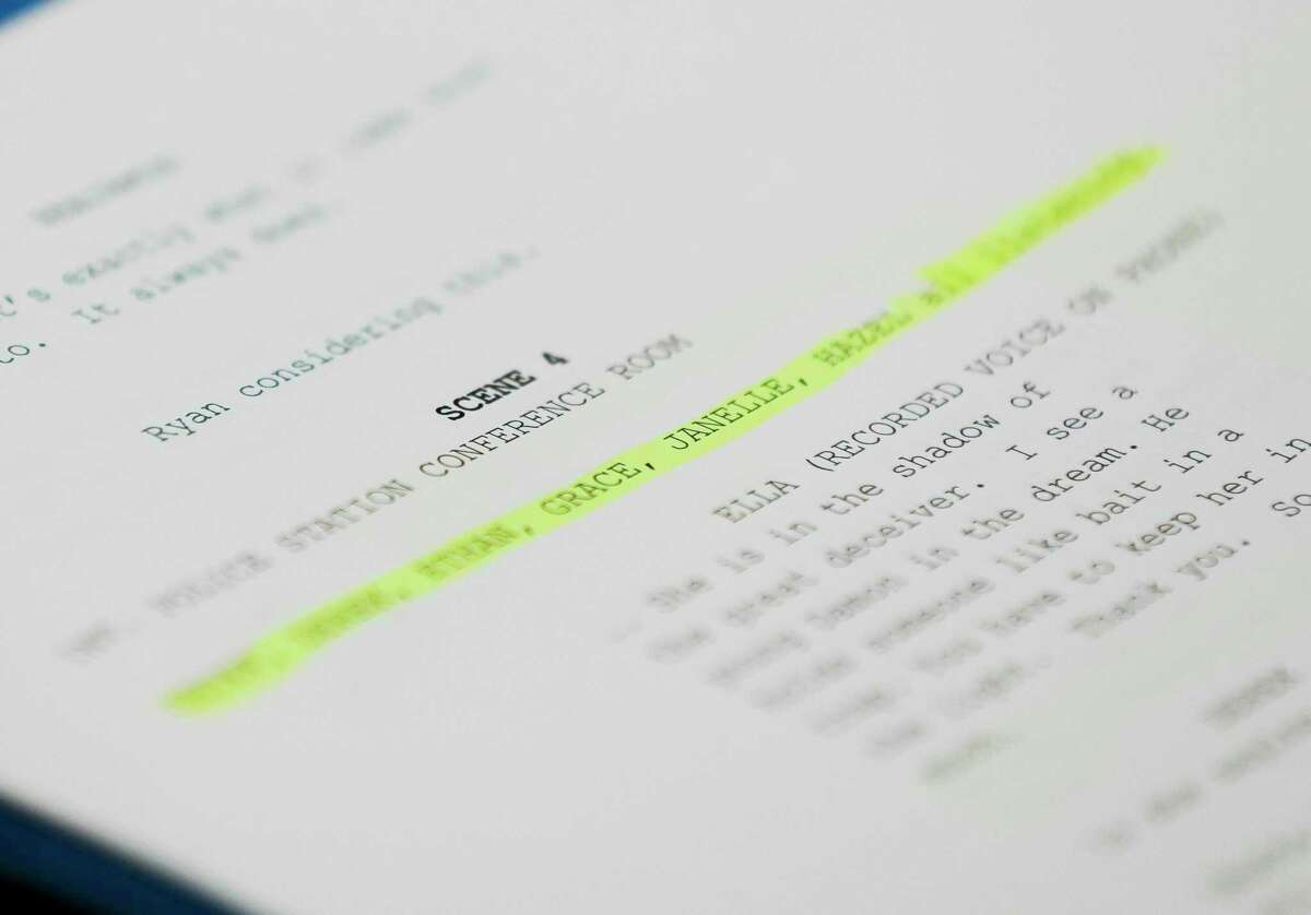 The script for the final episode of Breaking Strongholds is seen, Saturday, April 10, 2021, in The Woodlands.
